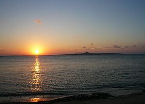 エメラルドビーチ夕日