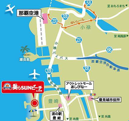 豊崎美らSUNビーチ地図