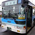 石垣島空港から街まで1本で行けるバスが便利