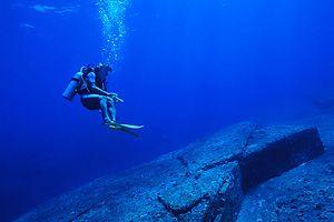 沖縄与那国島の海底遺跡