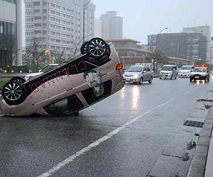 台風時の運転