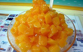 マンゴーたっぷりかき氷